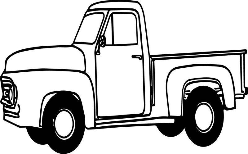 Ford Pickup Truck Coloring Page Kendaraan Warna Gambar