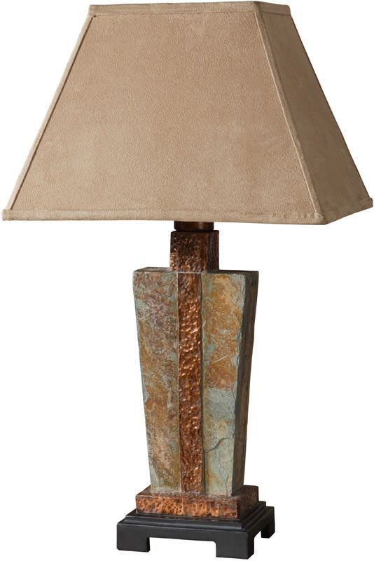 0 031714 29 H 1 Light Table Lamp Slate Outdoor Table Lamps Rustic Table Lamps Table Lamp