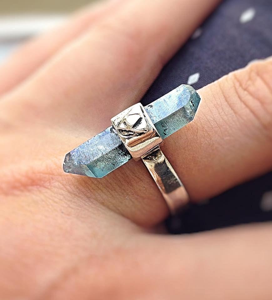 anillo plata primera de ley aqua aura