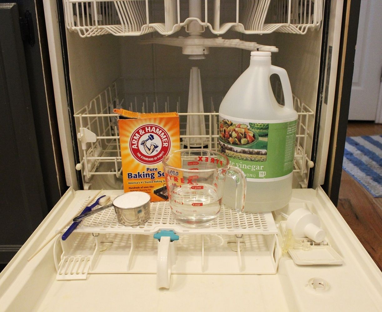 How To Clean A Dishwasher Naturally Clean Dishwasher Dishwasher Cleaner House Cleaning Tips