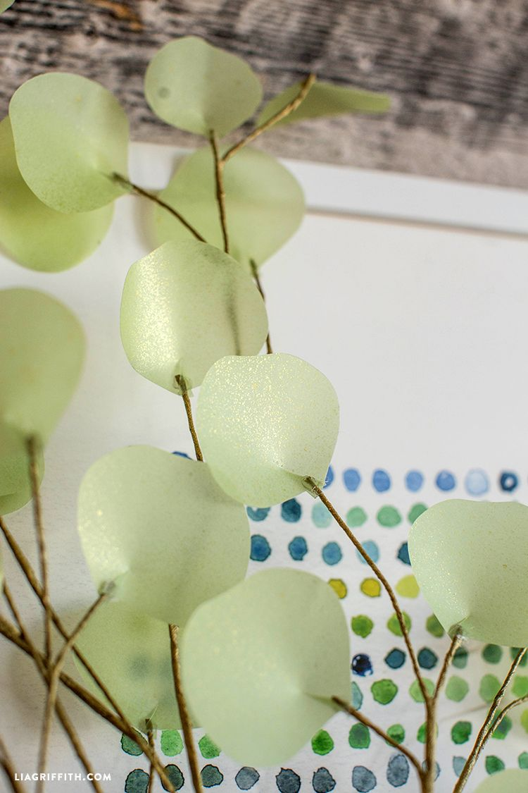 Diy eucalyptus branch tutorial diy and crafts silver dollar and vellum paper is slightly transparent which was perfect for giving our diy eucalyptus branch that mightylinksfo