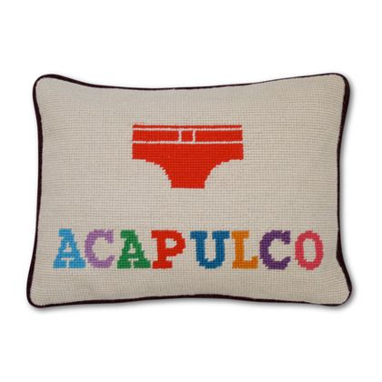 Acapulco Needlepoint Pillow
