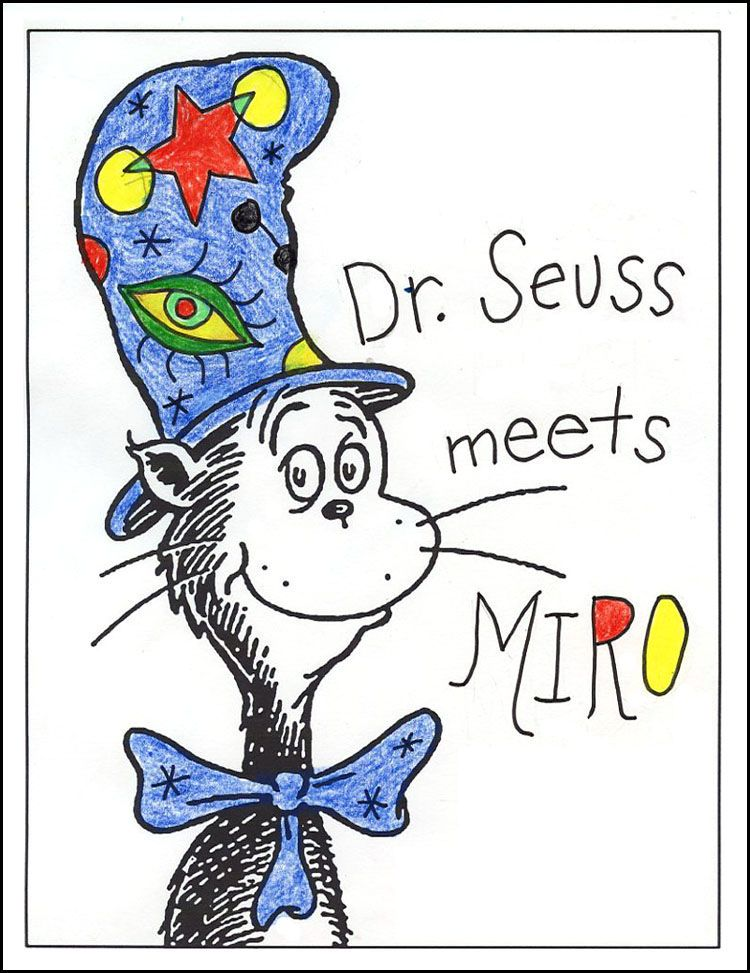 Art Projects for Kids: FREE Dr. Seuss Template Download. Here it was used for an art history lesson in which the students created a hat in the style of a famous artist. The blank template can be downloaded at artprojectsforkids.org