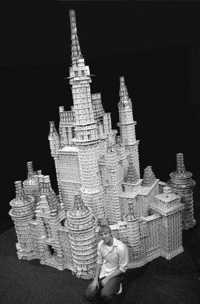 Freestanding Card Structures By Bryan Berg House Of Cards Disney Castle Card Art
