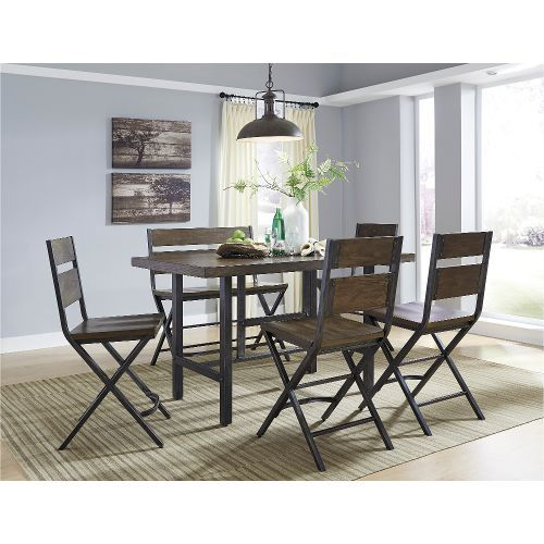 Exceptionnel 6 Piece Dining Set   Reclaimed Wood And Metal Contemporary Counter Height  $699