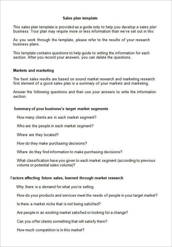sales plan template launching business marketing Pinterest