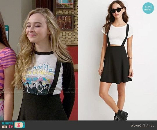 0c0313cd797 Maya s black overall skirt on Girl Meets World. Outfit Details  http
