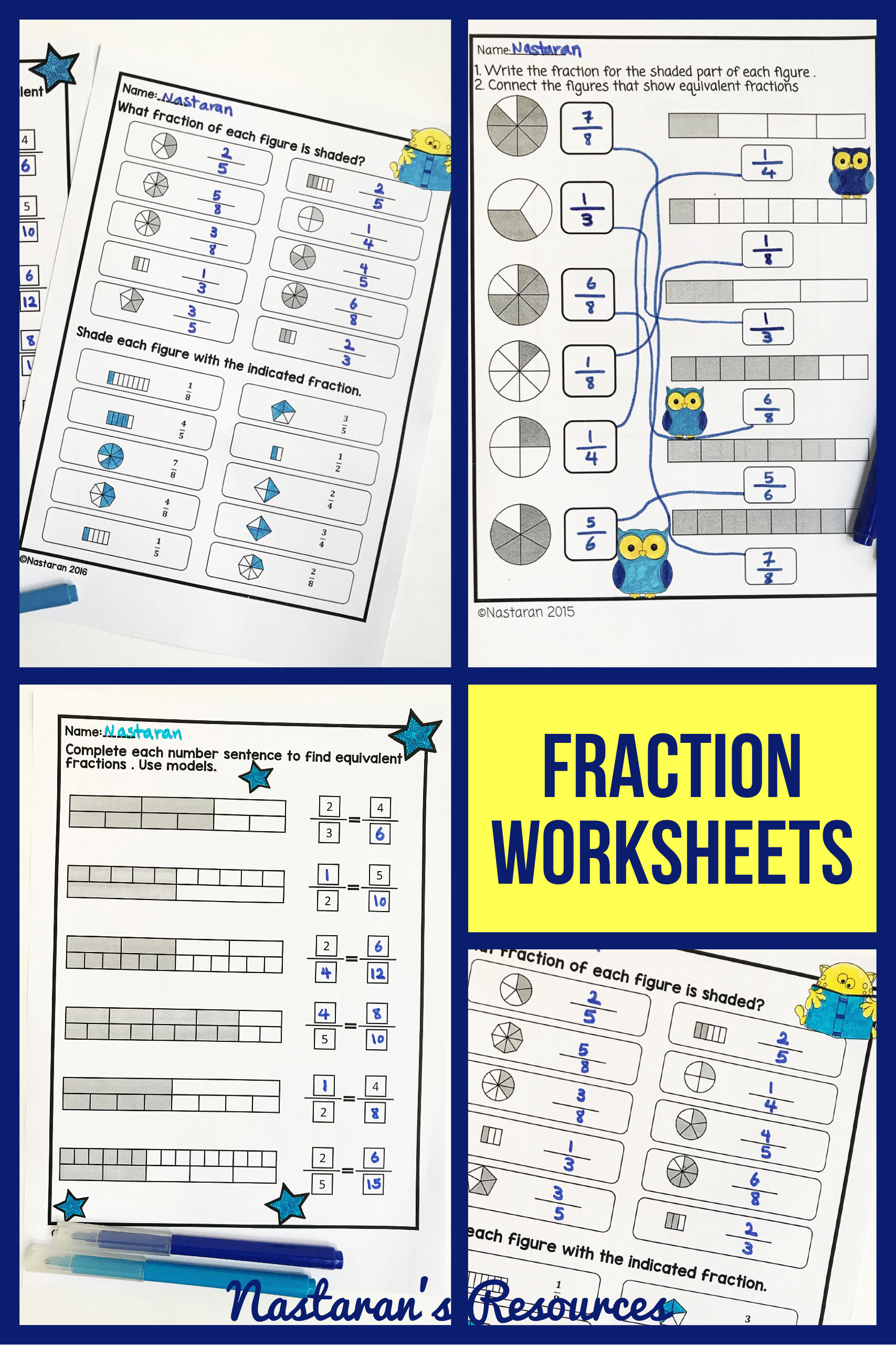 3rd Grade Fractions Worksheets Work Fractions