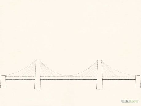 How To Draw Suspension Bridges Suspension Bridge Bridge Drawing Bridge