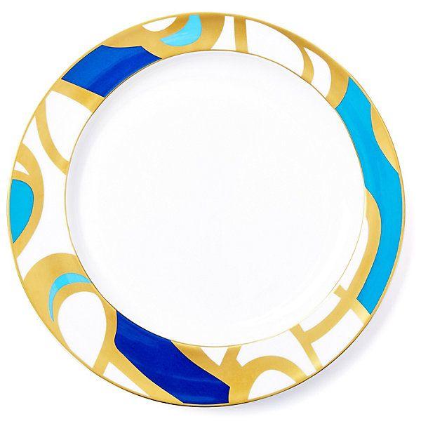 One Kings Lane - Designer Dining - S/4 Interlude Dancing Loops Dinner Plate  sc 1 st  Pinterest & One Kings Lane - Designer Dining - S/4 Interlude Dancing Loops ...