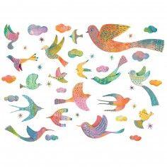 Stickers muraux oiseaux Bling bling birds Jade - Little big room by Djeco