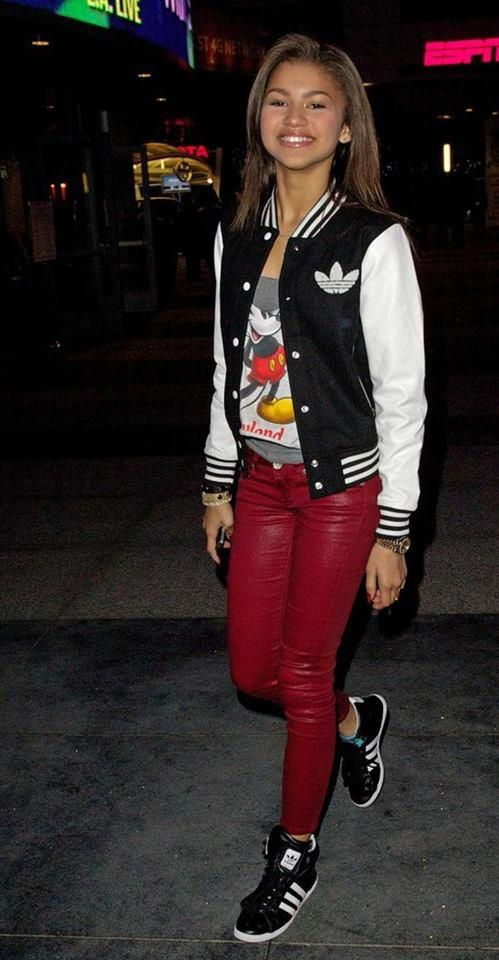29c95584d72c Adidas Sneakers. Adidas Jacket. Swag. Leather Pants. Urban Fashion. Hip Hop  Fashion. Hip Hop Outfit. Dope. Urban Outfit. Zendaya Coleman Style