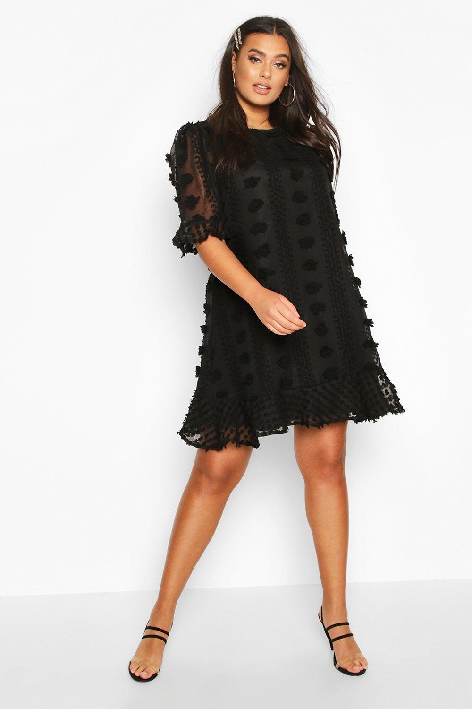Womens Ladies Black Mesh Bodycon Smock Dress