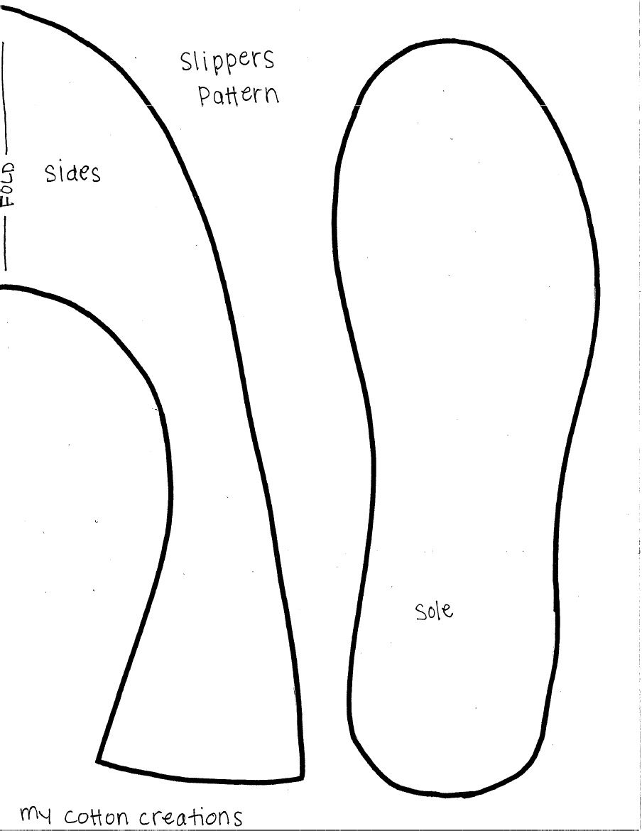 Slippers Pattern | Sewing Ideas | Pinterest | Slippers, Pattern and ...