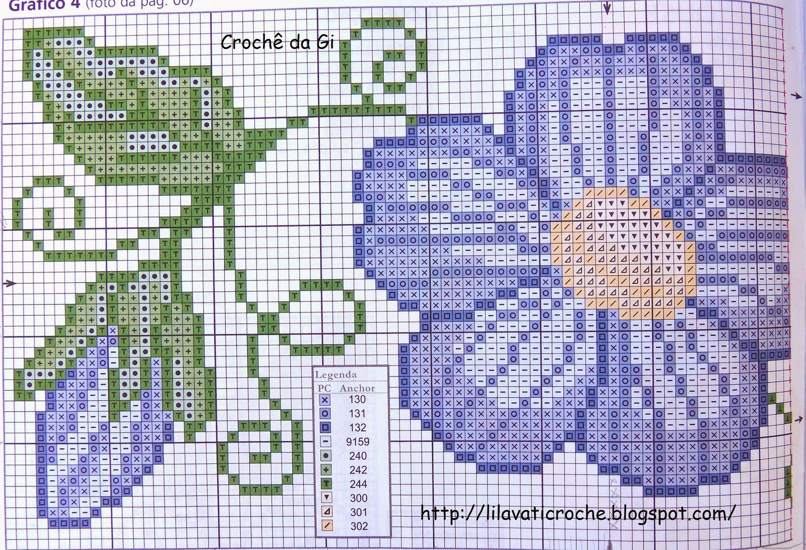 Toalhinha Com Flores Em Ponto Cruz E Bico De Croche Com Imagens