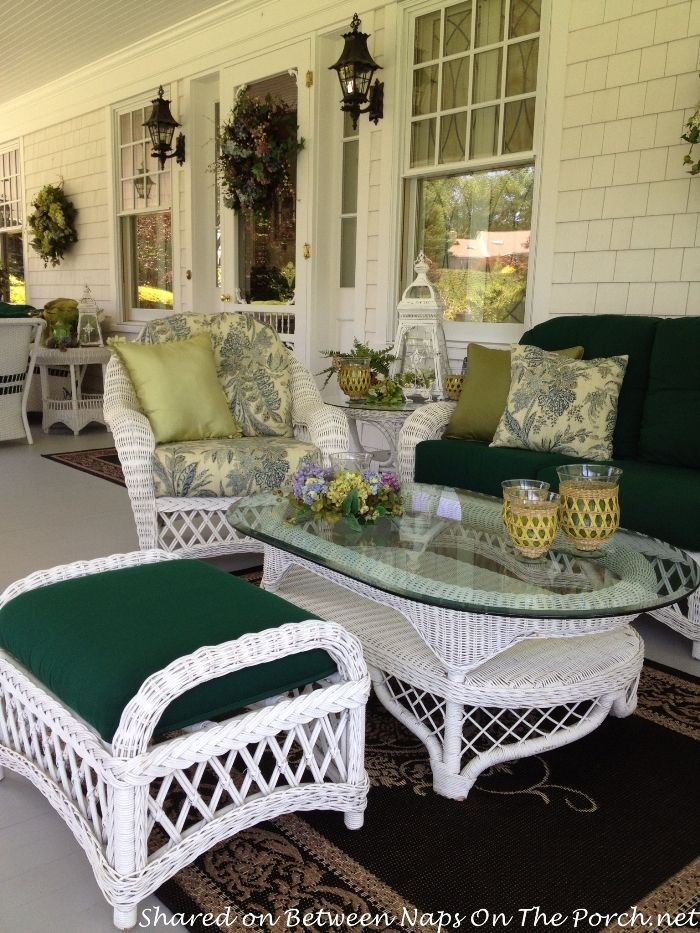 beautiful white wicker bedroom furniture | A Beautiful Victorian Home Rises From The Ashes | Porches ...