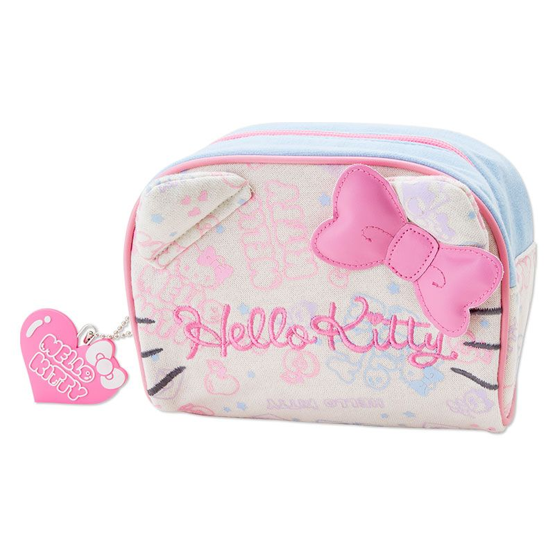 207cc0267c Hello Kitty Pouch Cosmetic Bag with Ears SANRIO JAPAN Logo
