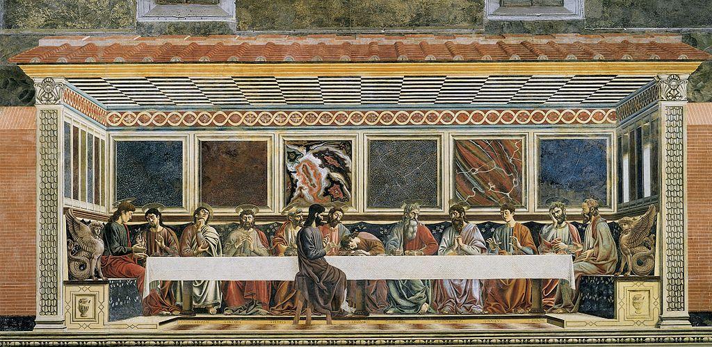 A Ultima Ceia 1445 1450 By Andrea Del Castagno Arte