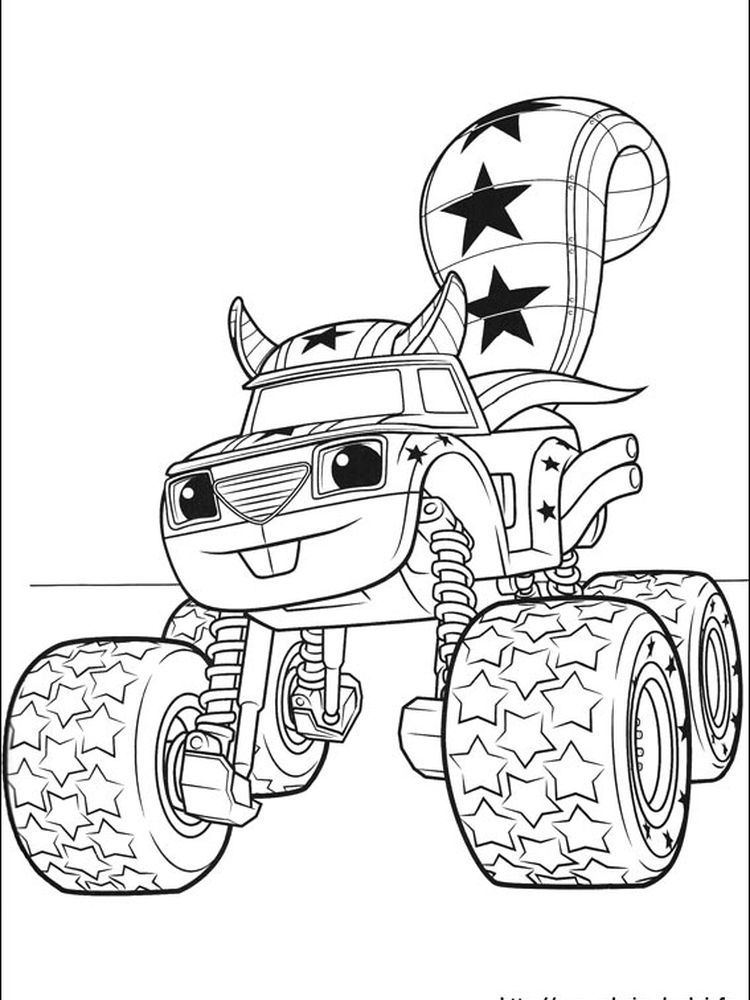 Blaze And The Monster Machines Free Colouring Pages Blaze And The Monster Machine Is Monster Truck Coloring Pages Truck Coloring Pages Nick Jr Coloring Pages