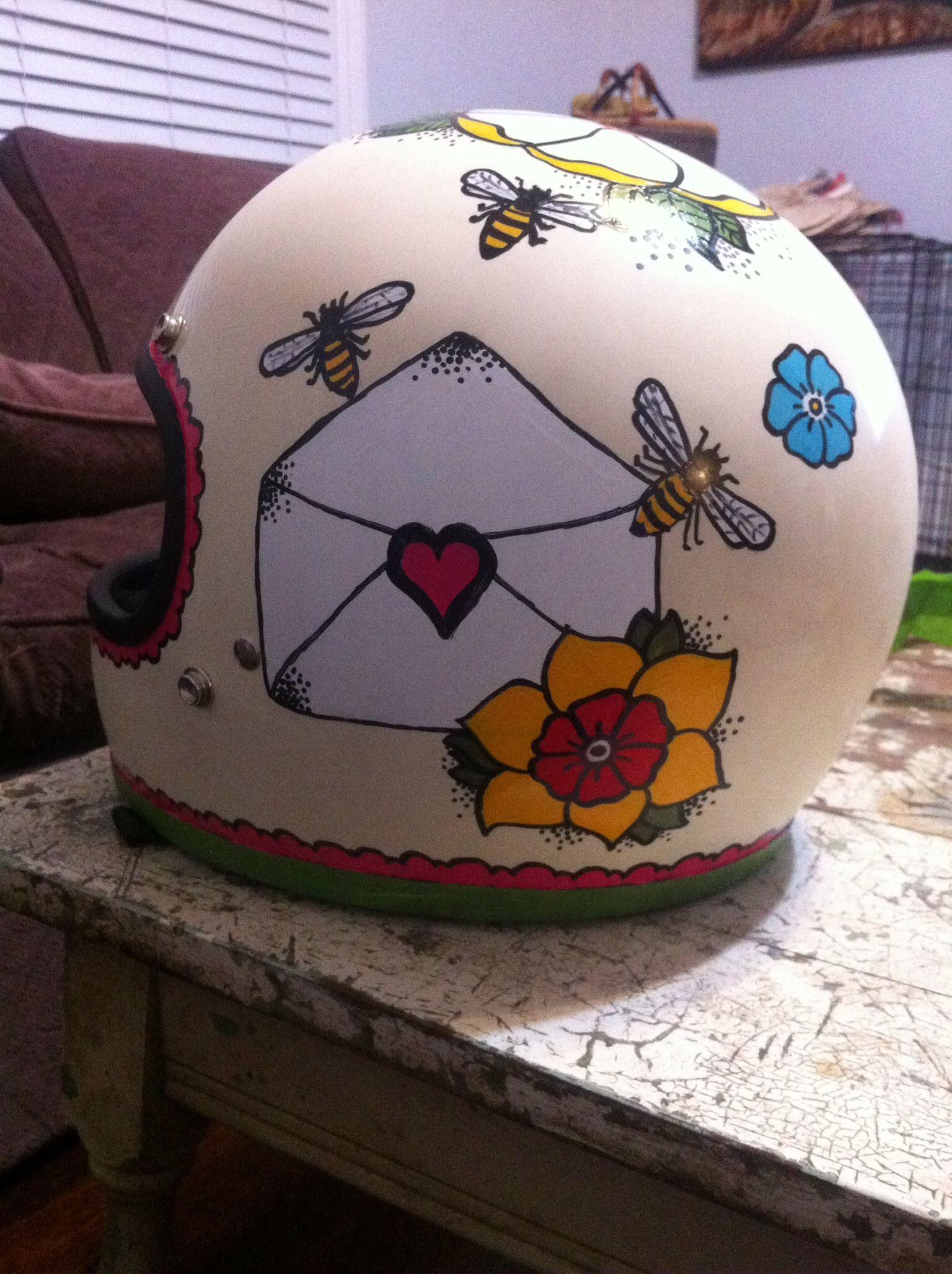 Other side of my helmet that I painted. Biltwell Gringo Helmet