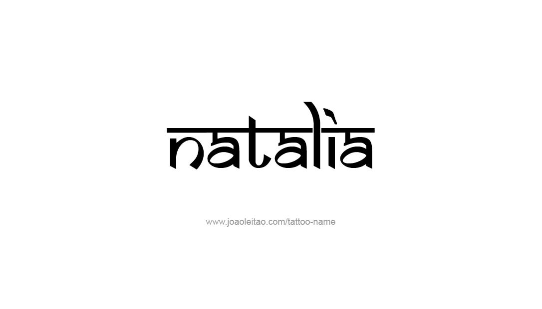 Natalia Name Tattoo Designs Tatuaże