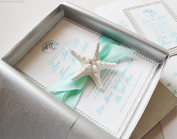 THESE WITH MY FAVORIT SEAHORSE ONES Florida Beach Wedding Invitations