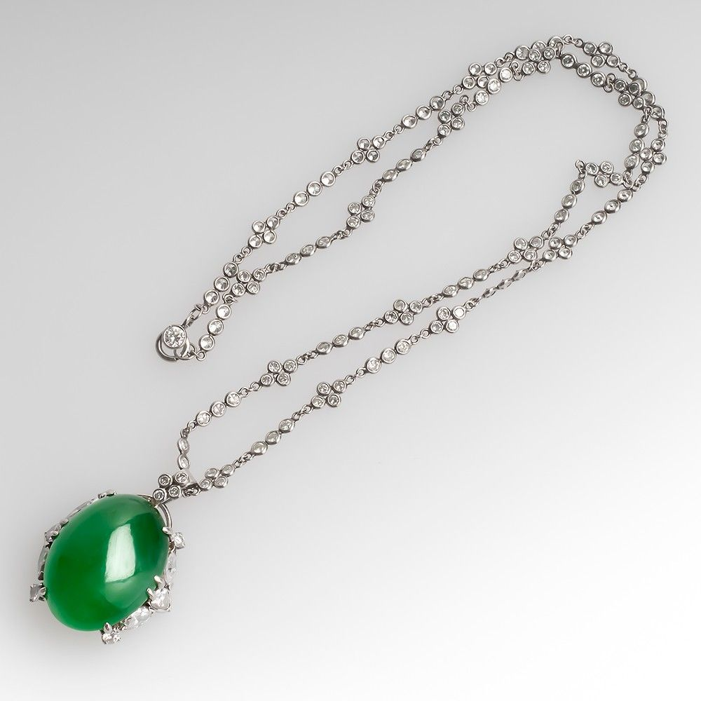 chains jade jewelry pendant cz silver circle wj disc green and inch dyed necklace sterling leaves bling