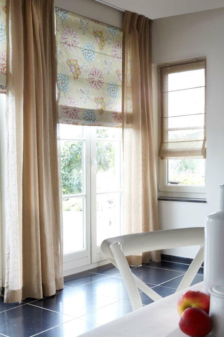 estores y cortinas actuales | Estores, cortinas Ideas DIY