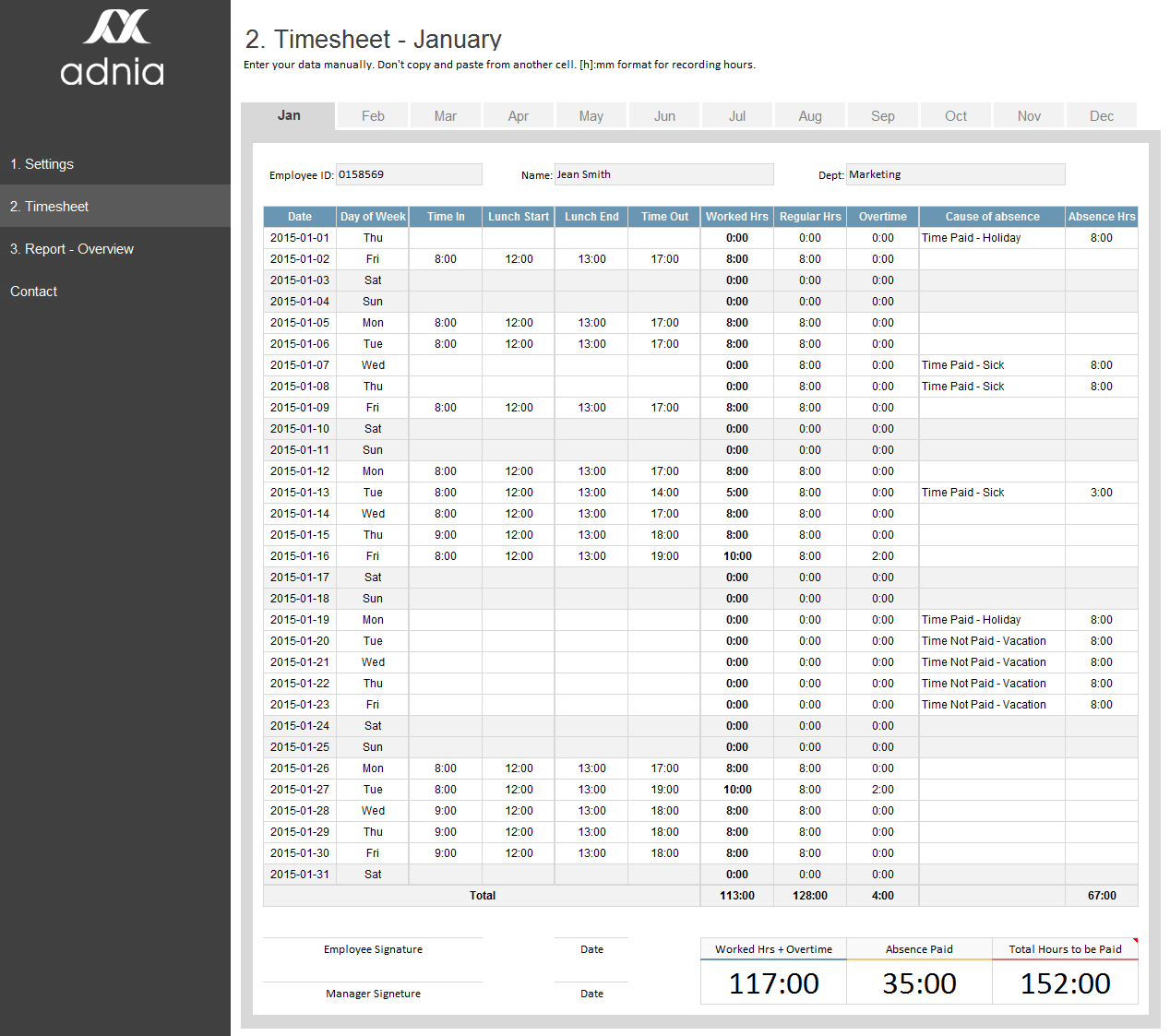 Timesheet Management Template  Excel Templates