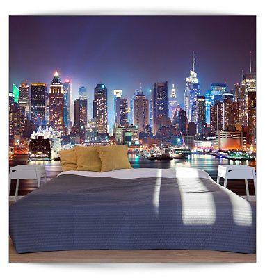 VLIES FOTOTAPETE 3D New York TAPETE TAPETEN Schlafzimmer WANDBILD - tapeten für schlafzimmer bilder