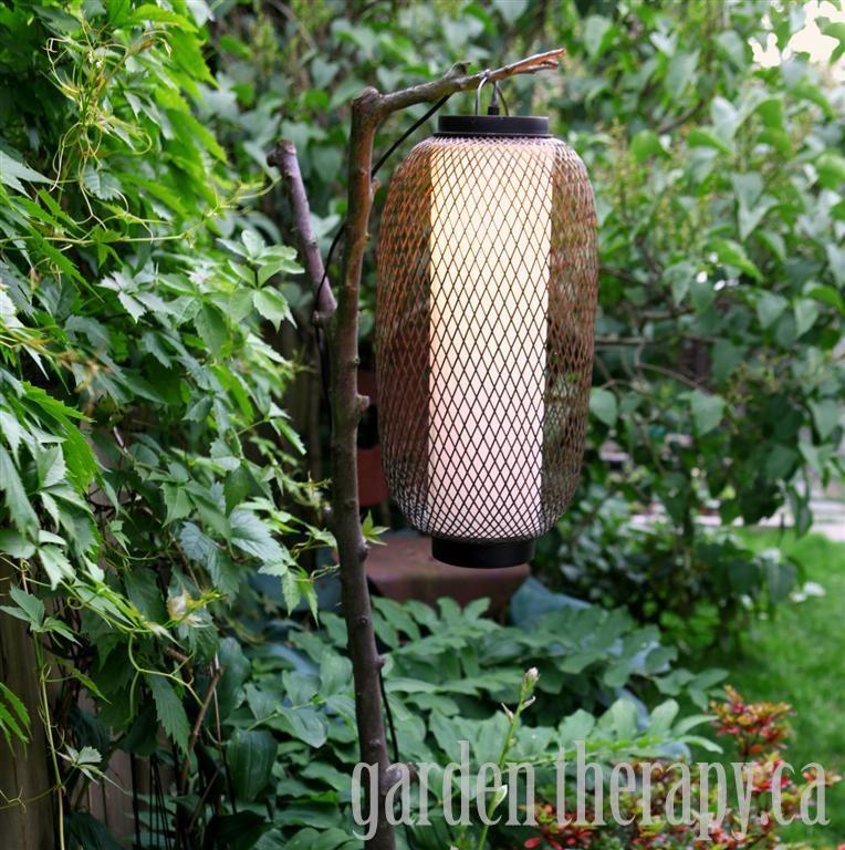 DIY Outdoor Ideas | DIY Outdoor Lighting Project via Garden Therapy #garden #lighting