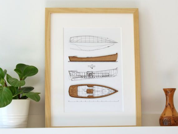 Boat blueprint wood cut wall art blueprints nautical decor boat blueprint wood cut wall art blueprints nautical decor seaside blueprint malvernweather Choice Image
