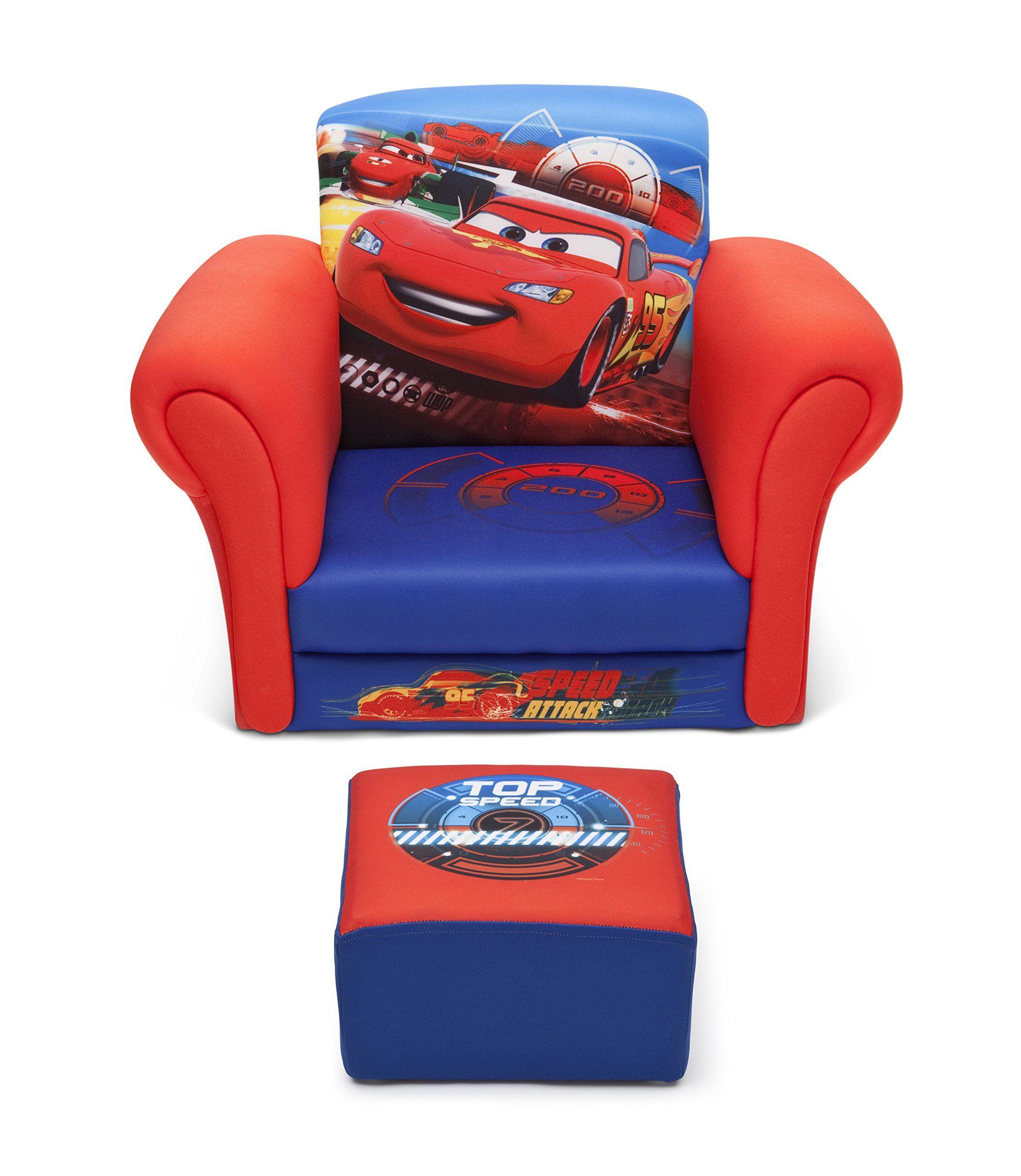 Delta Children Upholstered Chair with Ottoman Disney/Pixar ...