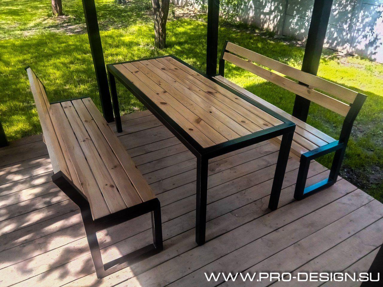 Table Bois Metal Exterieur Лофт – 9 fotek | vk | Металлическая мебель, Мебель из стали