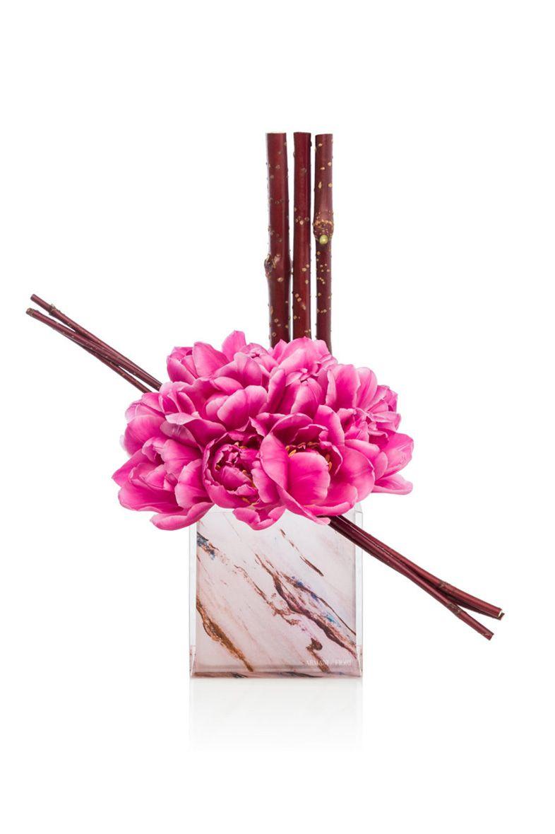 Pink marble tulip vase