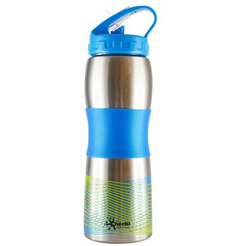 Cheeki 600ml 20oz Wide Mouth Ergonomic Stainless Steel Sports Water ...