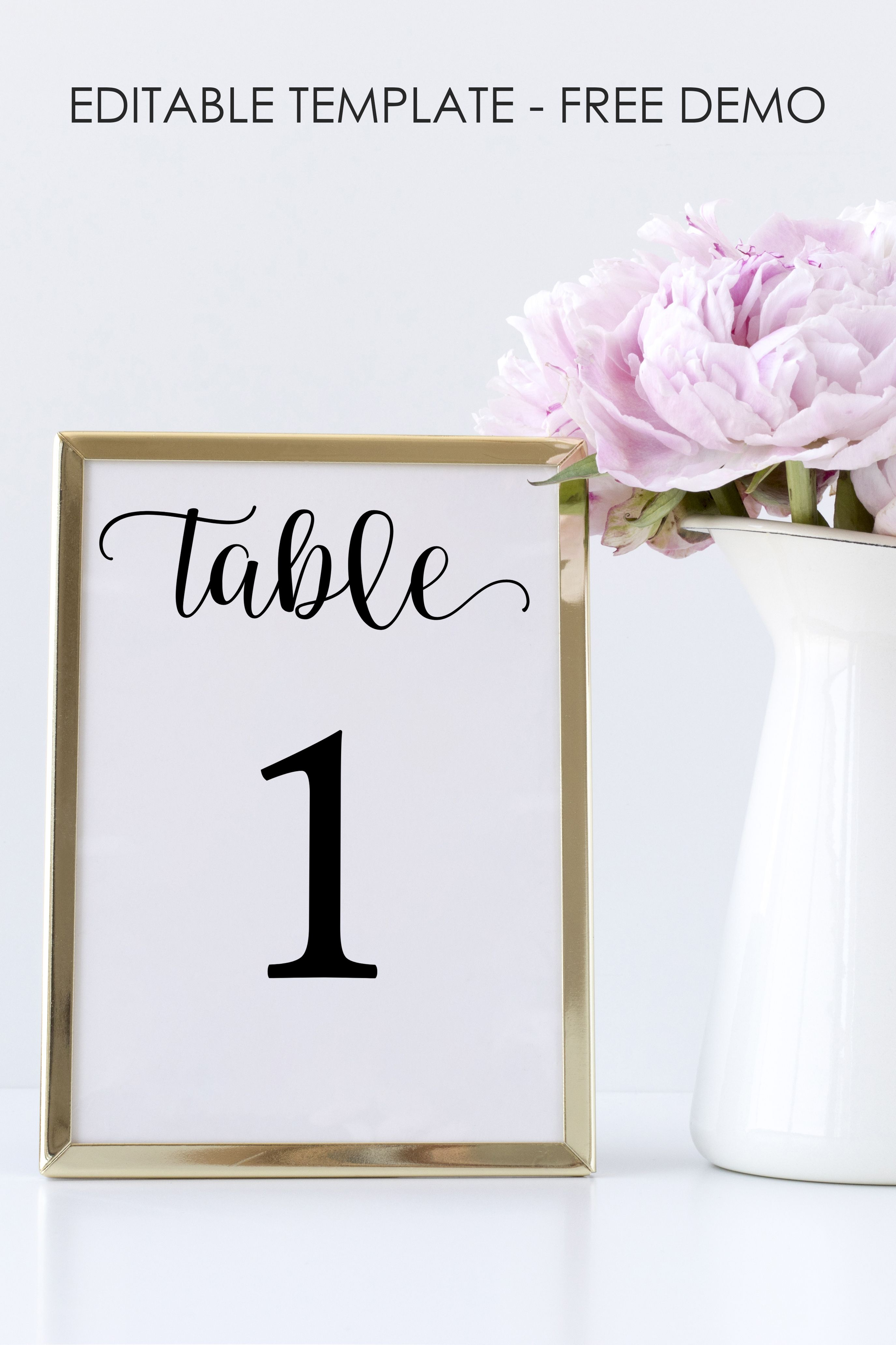 Seating Chart Cards Instant Download Table Number Template Printable Table Numbers Table Numbers Editable Table Number Template