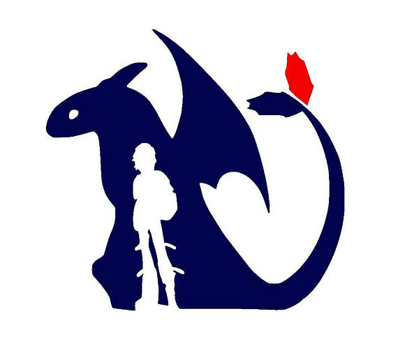 How To Train Your Dragon Toothless And Hiccup Vinyl Decal