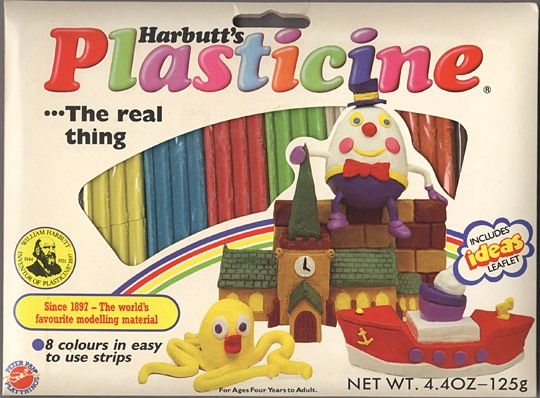 Plasticine! Please don't mess the colours up into one big mess - it drives me NUTS !!  control freak from an early age !!