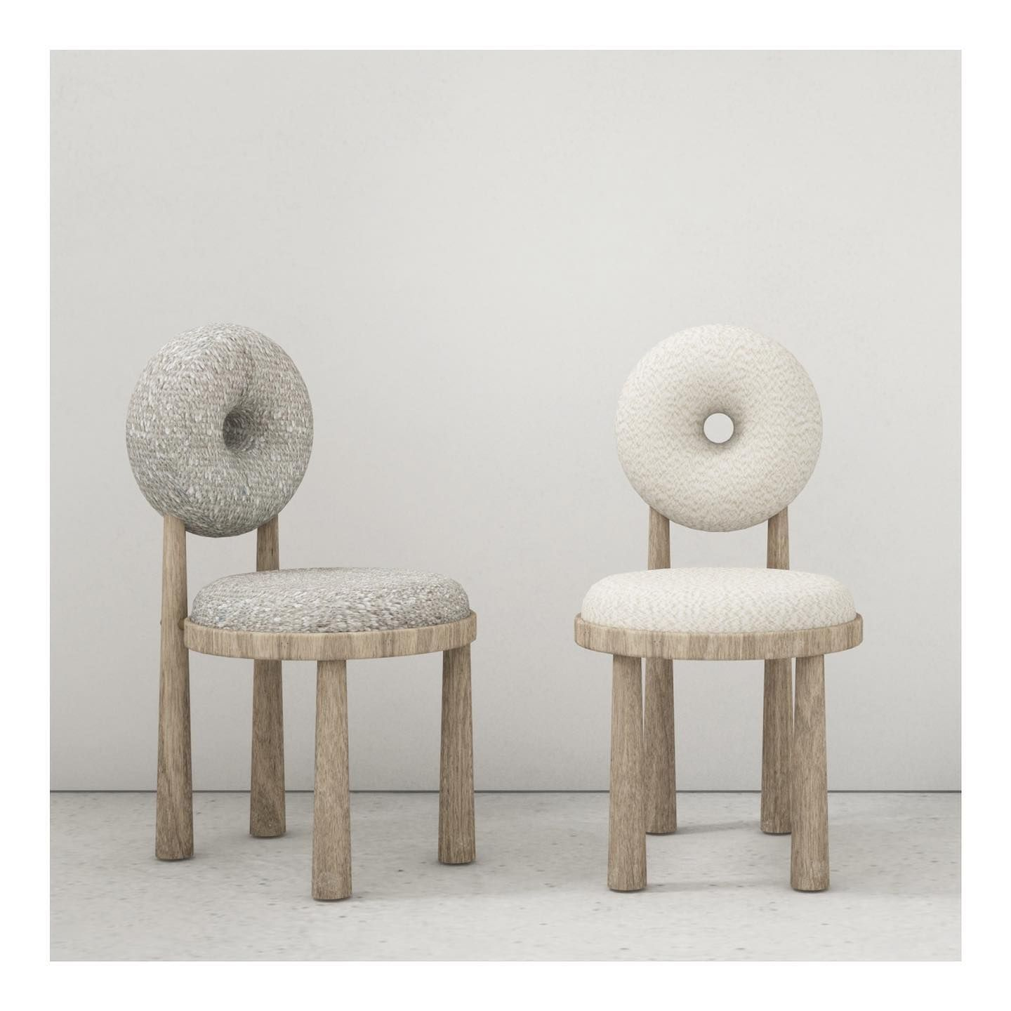 Baba Collection Chairs Designed By Emmanuelle Simon Design Chairs Baba Collection Wood Circle In 2020 Luxury Dining Chair Swivel Dining Chairs Nordic Furniture