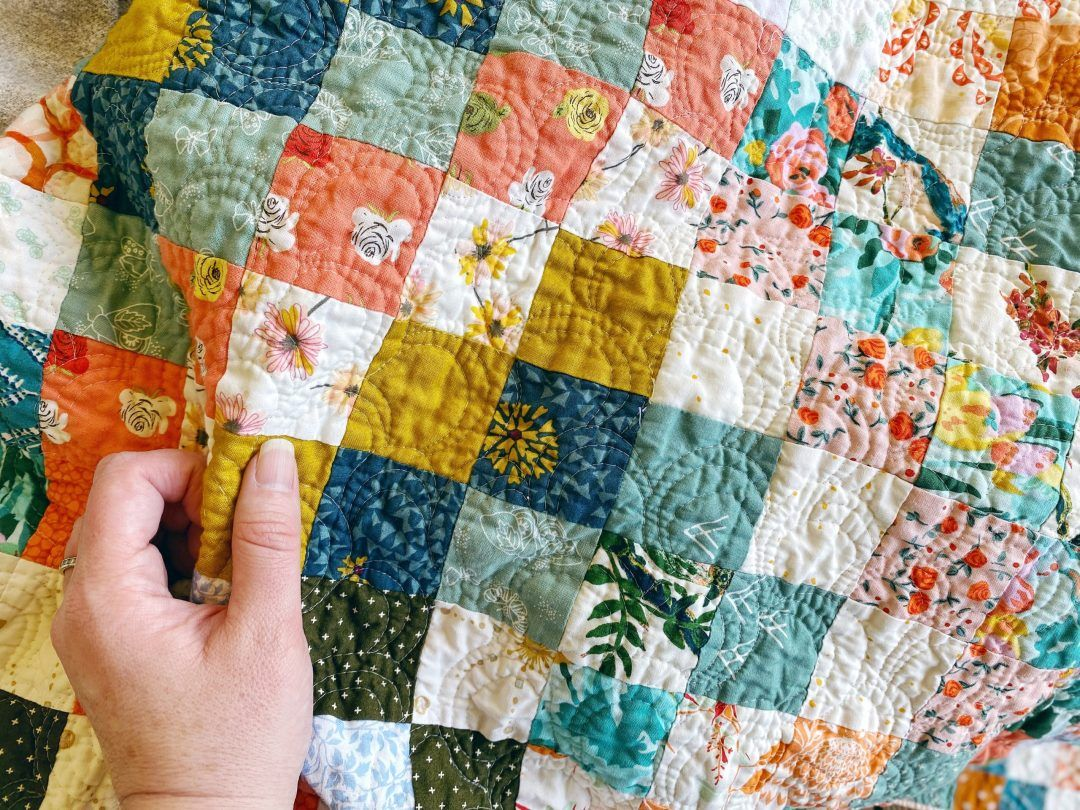 Quilt Reveal Trippy Quilt 4 Green And Orange And A Hint Of Silver In 2020 Quilts Scrappy Quilt Patterns Free Motion Quilting