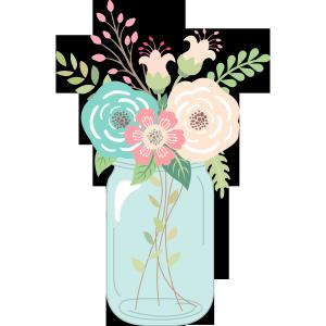 Free Mason Jar Wedding Clipart