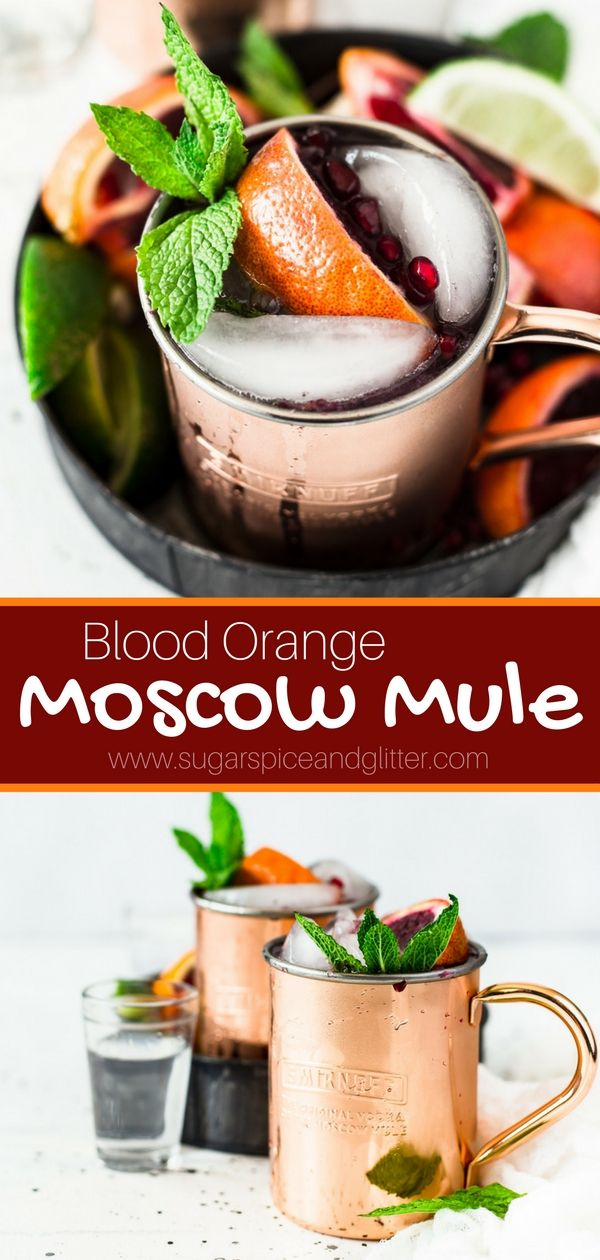 Blood Orange Moscow Mule Recipe Vodka And Tails