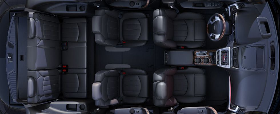 2014 Gmc Acadia Denali In Ebony Comfortably Seats Up To Eight