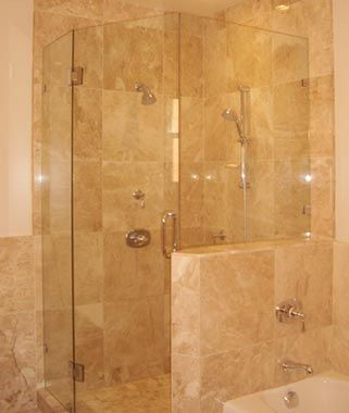 Pictures Of Remodeled Showers marble showers | custom marble shower in a remodeled master
