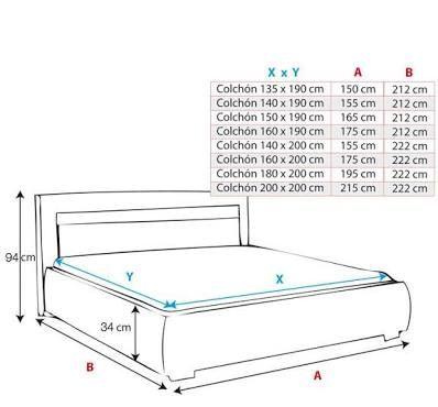 Resultado de imagen para cama medidas decora o for Cama queen dimensiones