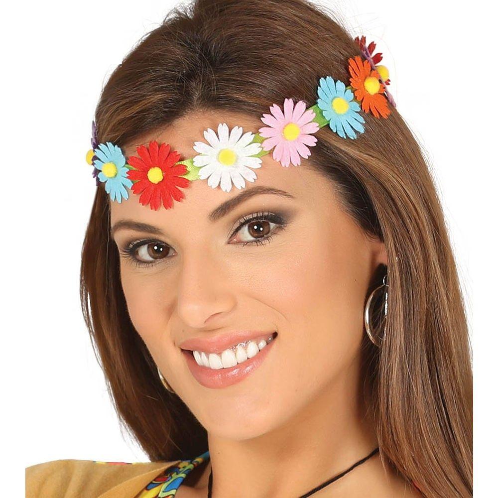 Blumenhaarband Hippie Kopfband Hippiehaarband Blumen Kostümzubehör Haarschmuck