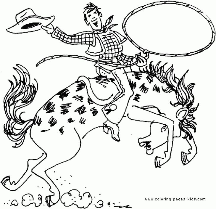 Cowboy Coloring Page | Fun Coloring Pages | Pinterest