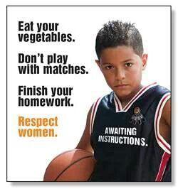 Teach boys from the start   M<3