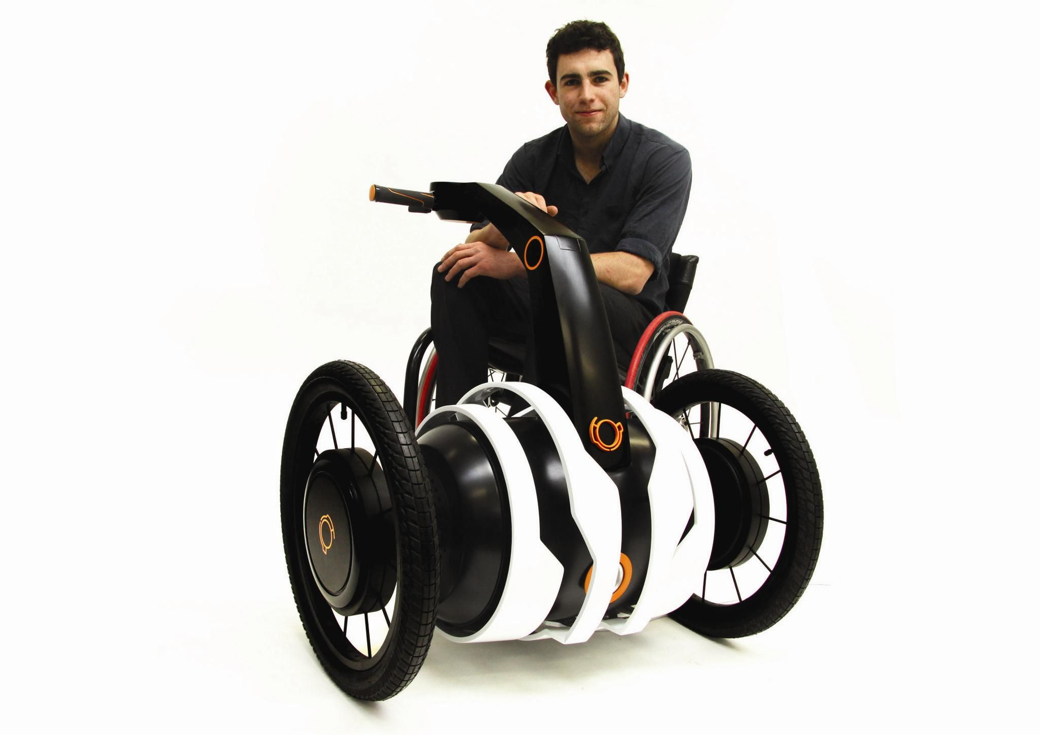 Independent Wheelchair Assist is a motorised attachable